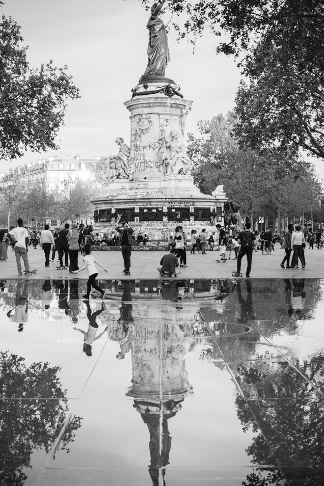 parijs place de la republique ilford-1966